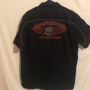 Harley Davidson motorcycle garage punk shirt L